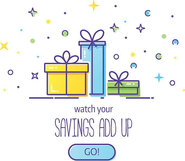 ilustrações de stock, clip art, desenhos animados e ícones de gift box logo. - gift box
