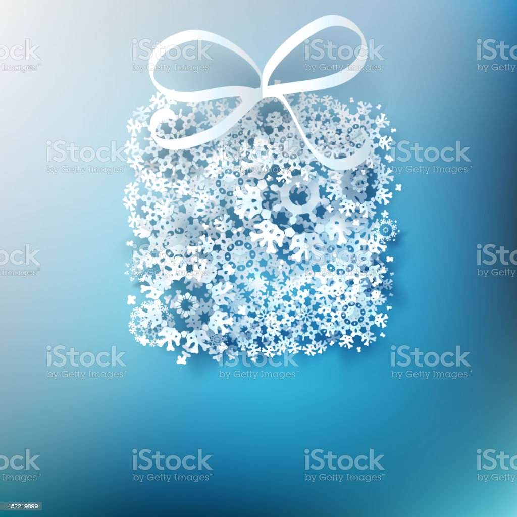 Gift box made from paper snowflakes. EPS 10 royalty-free gift box made from paper snowflakes eps 10 stock vector art & more images of abstract