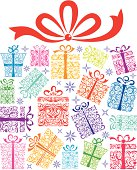 Stylized ornate presents for any special occasion.