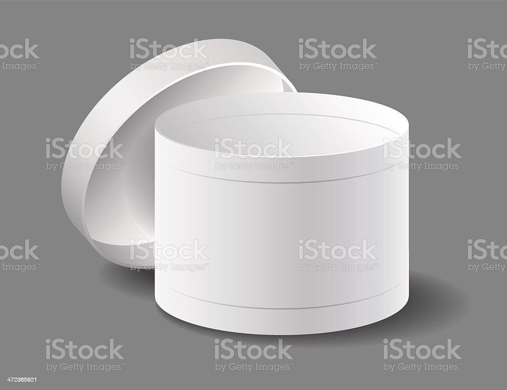 Gift box on a gray background. vector art illustration
