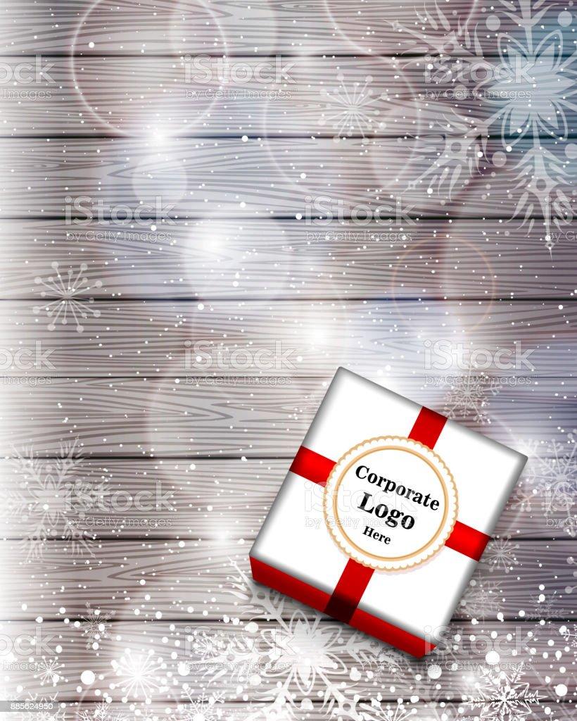 Geschenk-Box auf dem Tisch – Vektorgrafik