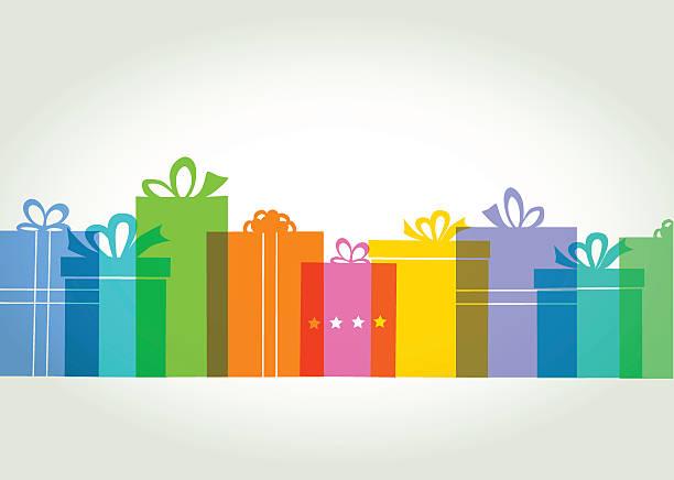 Gift box or Present vector art illustration