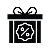 gift boxes, percentage, in black Friday vectors, to solid styles,