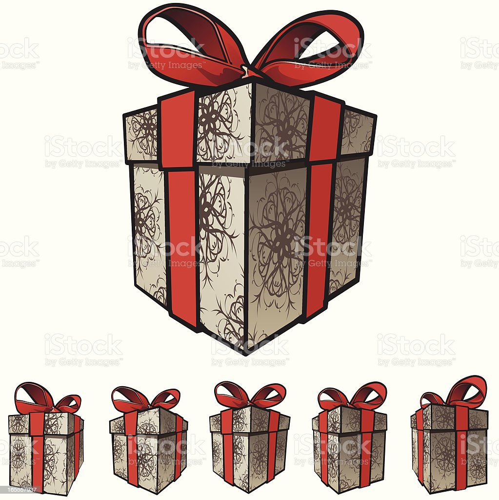 Gift Box - Red royalty-free gift box red stock vector art & more images of birthday
