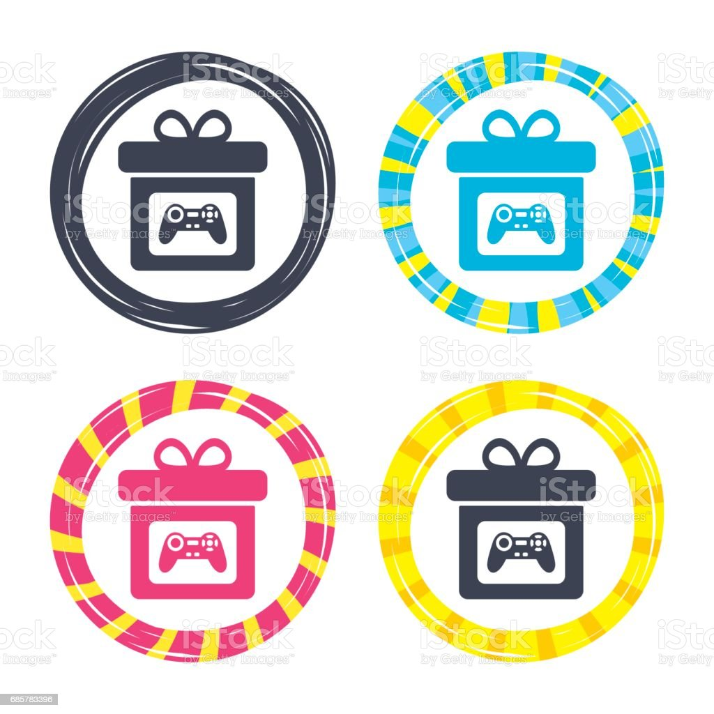 Gift box sign icon. Present symbol. royalty-free gift box sign icon present symbol stock vector art & more images of art