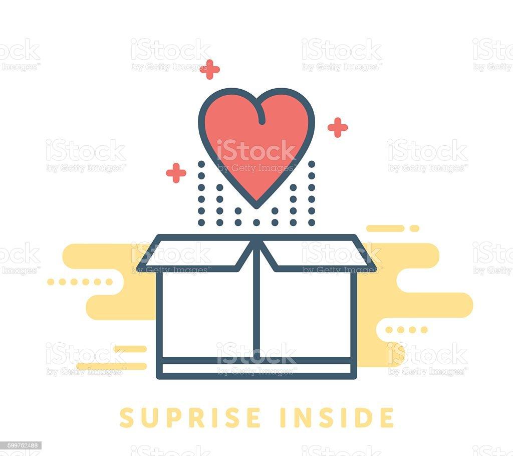 Gift Box Symbol vector art illustration