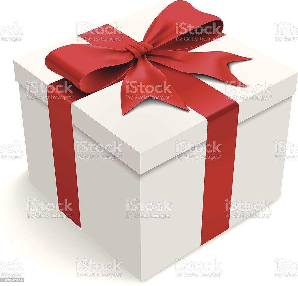 white gift box clip art, vector images & illustrations - istock