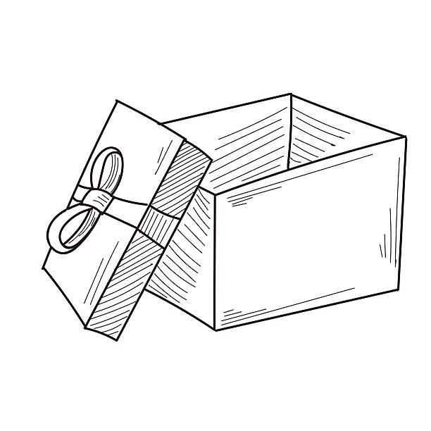 Royalty free open gift box clip art vector images illustrations gift box vector art illustration negle Choice Image