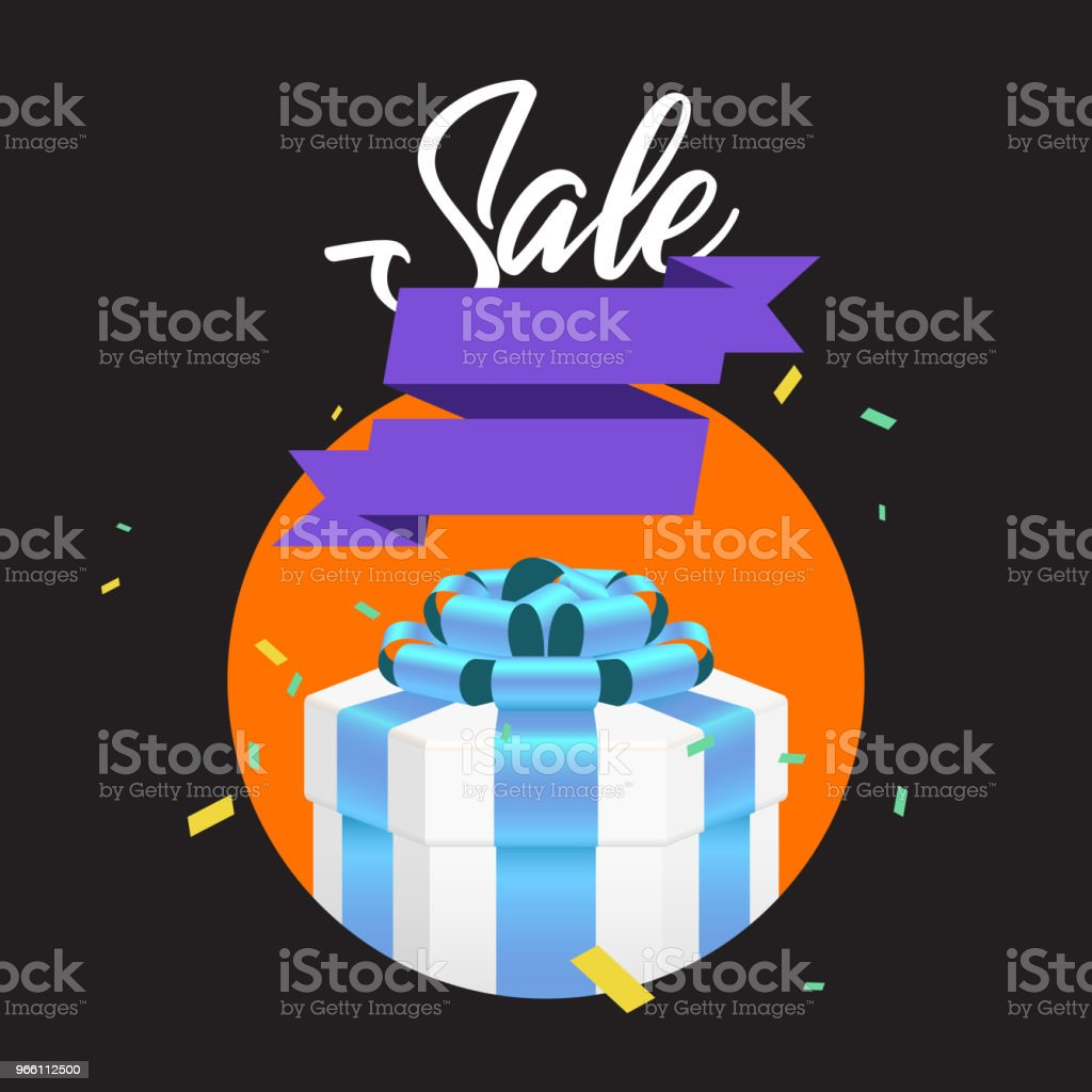 Gift box. - Royalty-free Aniversário arte vetorial