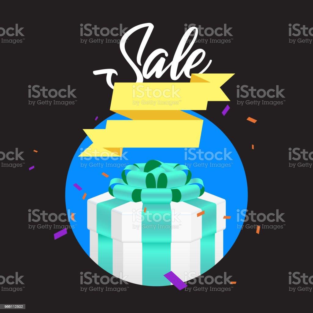 Geschenk box. - Lizenzfrei Ausverkauf Vektorgrafik