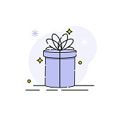 Gift box Vector illustration isolated on white background from event collection. gift box icon trendy and modern gift box symbol for logo, web, app. gift box icon flat vector illustration for graphic and web design.