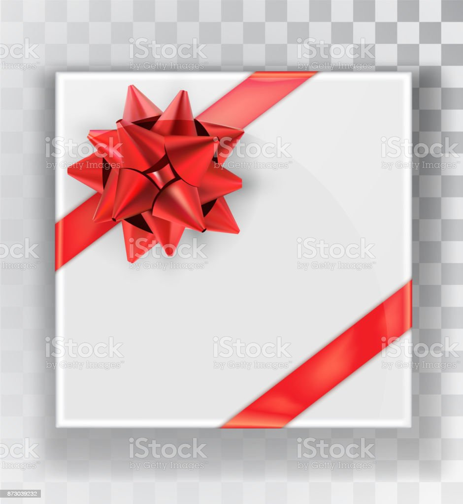Gift Box White Christmas Gift Boxes Isolated On A Transparent Background Green Box With A Colorful Elegant Bow Realistic Vector Object Isolated Stock Illustration Download Image Now Istock