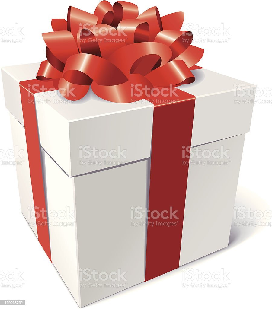 Gift box with bow royalty-free stock vector art