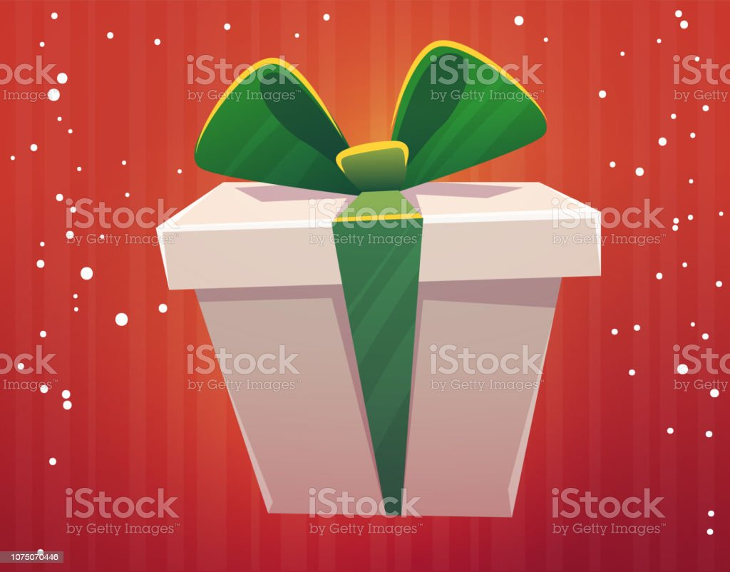 gift box with ribbon and bow , cartoon style boxes presetns ....