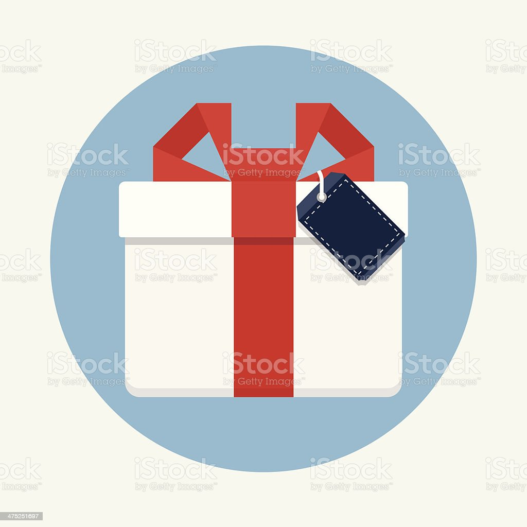 Gift Box with Tag royalty-free stock vector art