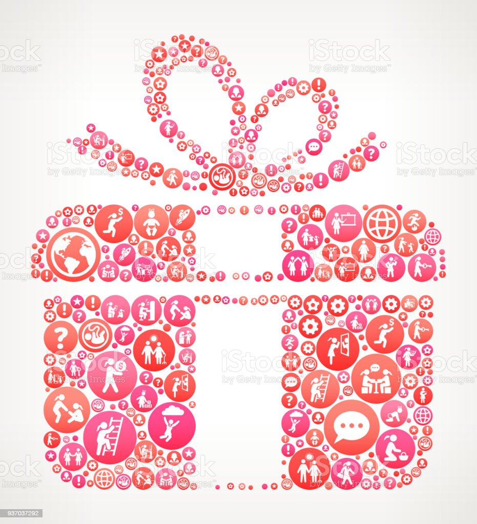 Gift Box Women Female Empowerment Icons Vector Background Stock Illustration Download Image Now Istock