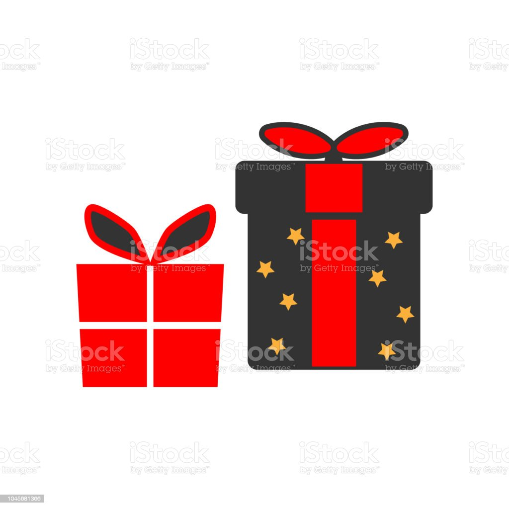Gift Boxes Icon Christmas Or New Year Element Premium Color Graphic ...