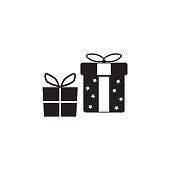 Gift boxes icon. Christmas or New Year element. Premium quality graphic design. Signs, outline symbols collection, simple icon for websites, web design, mobile app on white background