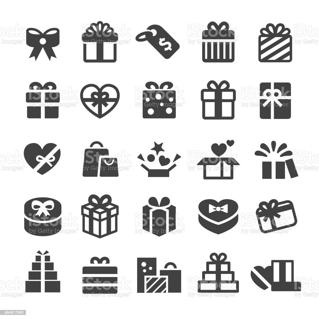 Gift Boxes Icons - Smart Series - Royalty-free Aberto arte vetorial