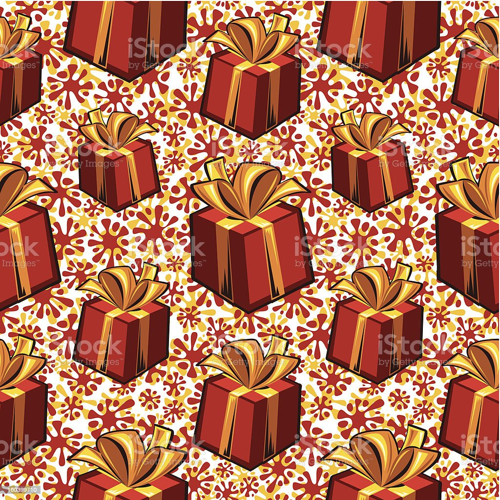 Gift boxes seamless pattern. royalty-free stock vector art