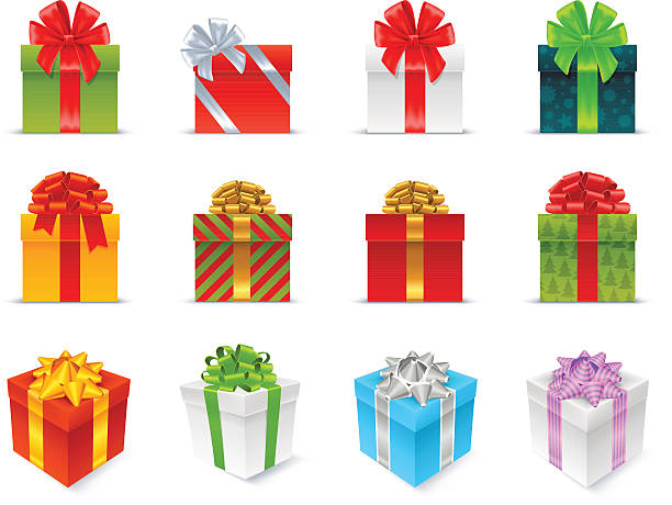 stockillustraties, clipart, cartoons en iconen met gift boxes - christmas present