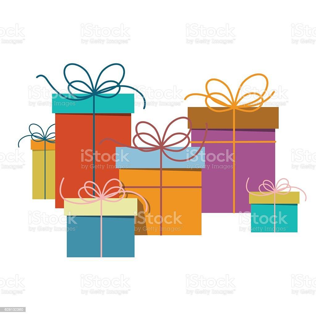 Gift Boxes vector art illustration