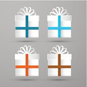 Gift Boxes Vector Illustration.