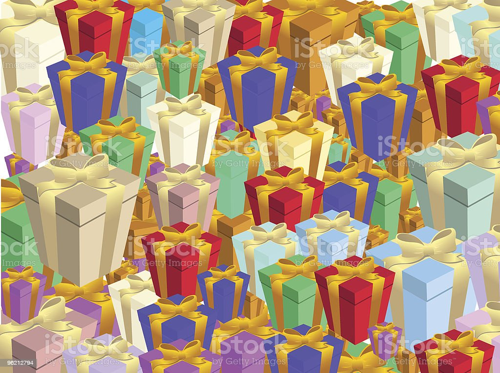 gift boxs royalty-free stock vector art