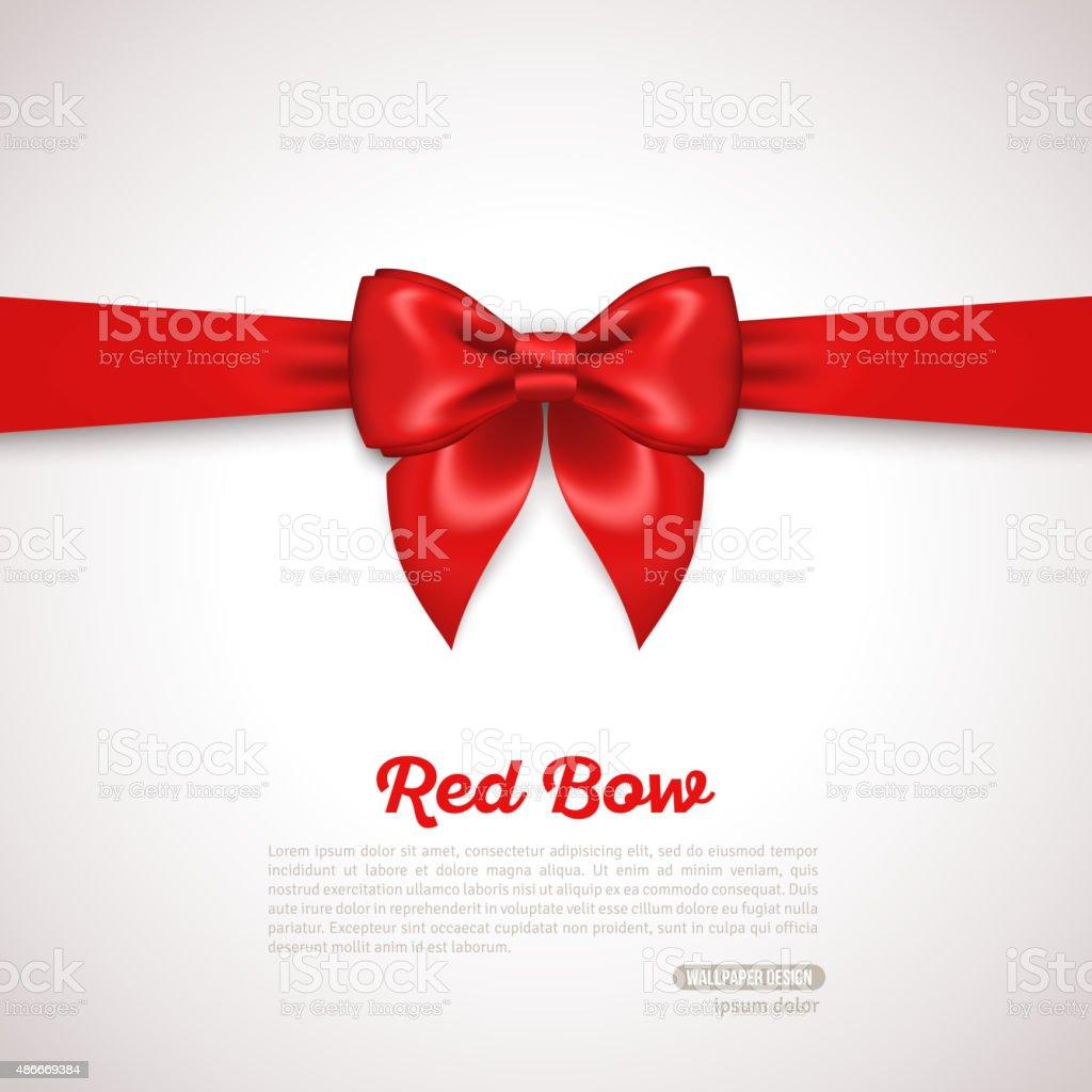 Disegno Di Carta Regalo Con Fiocco Rosso E Posto Per Testo