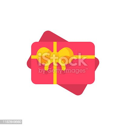 istock Gift Card Flat Icon. Pixel Perfect. For Mobile and Web. 1152849560