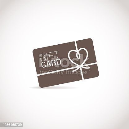 istock Gift Card Flat Icon. Pixel Perfect. For Mobile and Web 1286165739