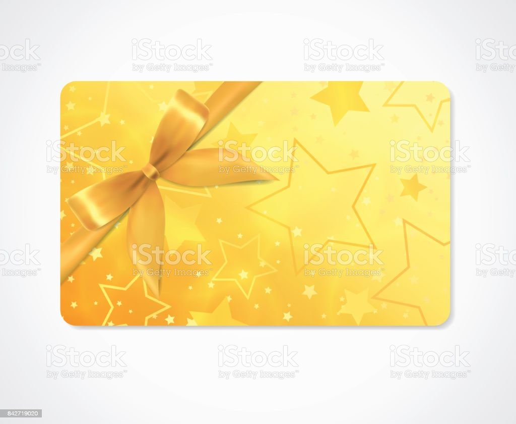 Carte-cadeau, bon-cadeau, (réduction, cadeau) withs parkling, scintillant motif étoiles (texture) - Illustration vectorielle