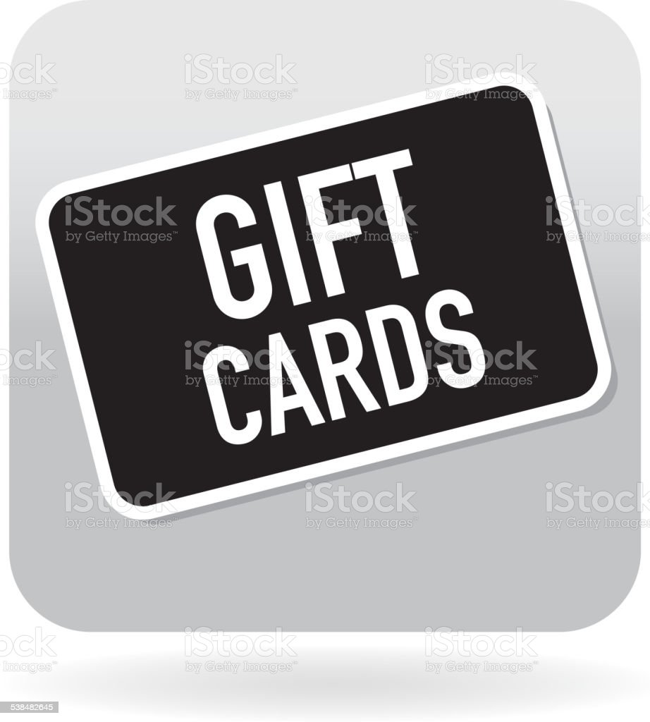 Gift card icon on an angle vector art illustration