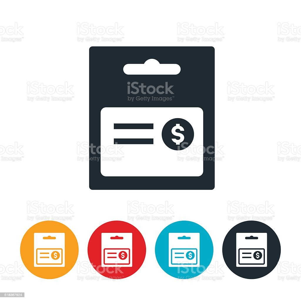 Gift Card Icon vector art illustration