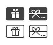 istock Gift Card - Illustration Icons 1264633423