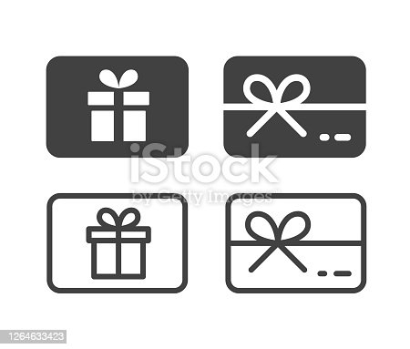 istock Gift Card - Illustration Icons 1264633423