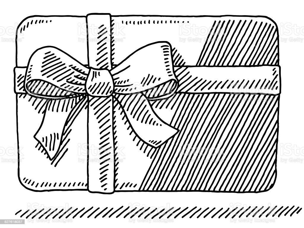 Disegno Di Carta Regalo Con Fiocco Immagini Vettoriali Stock E
