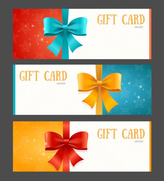 stockillustraties, clipart, cartoons en iconen met gift card template. vector - birthday gift voucher