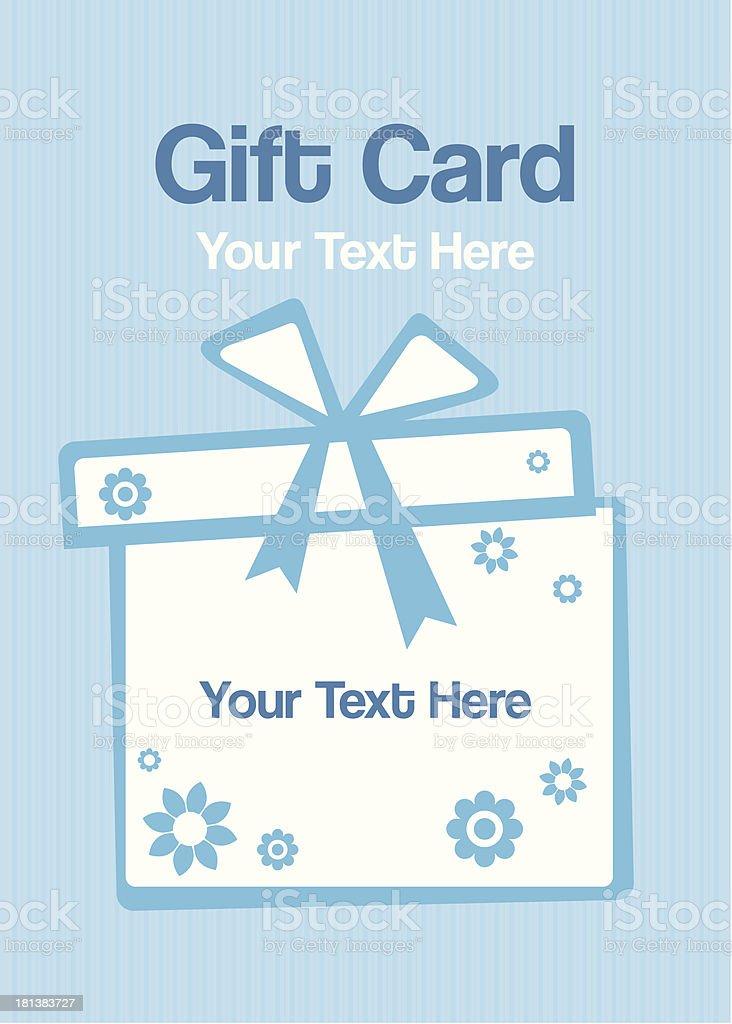 Gift card royalty-free stock vector art