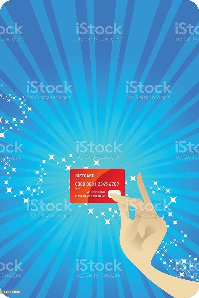 기프트 카드 royalty-free 기프트 카드 구매에 대한 스톡 벡터 아트 및 기타 이미지