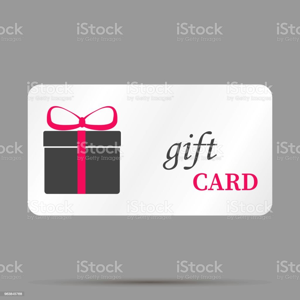 Gift card vector image. A gift card store. Layers grouped for easy editing illustration. For your design. - Royalty-free Birthday stock vector