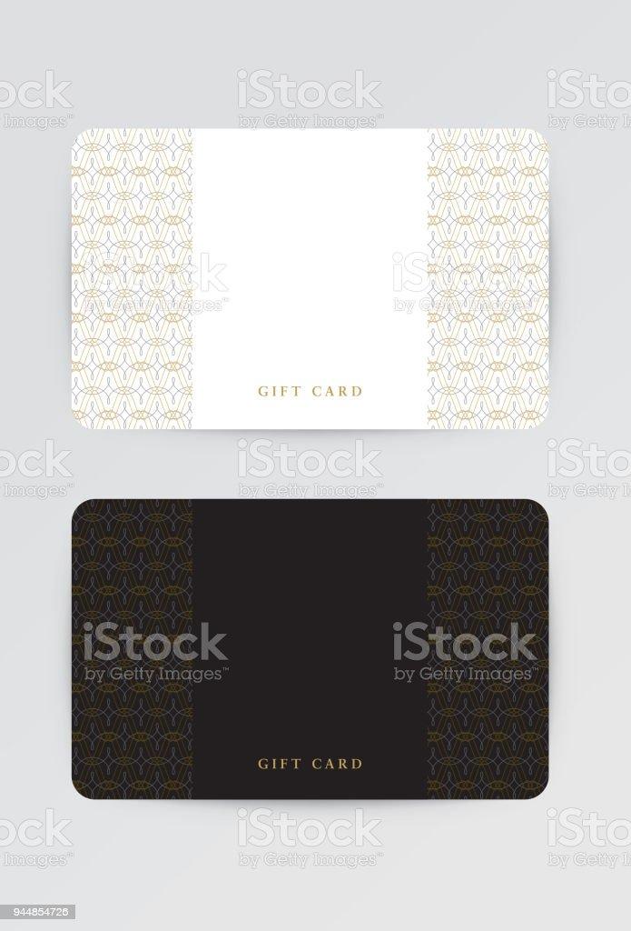 Carte-cadeau, modèle de pièce justificative. Fichier vectoriel pour faciliter le montage. - Illustration vectorielle