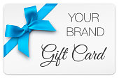 istock Gift Card with Blue Bow 1272131717