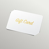 Gift Card with Golden Title
