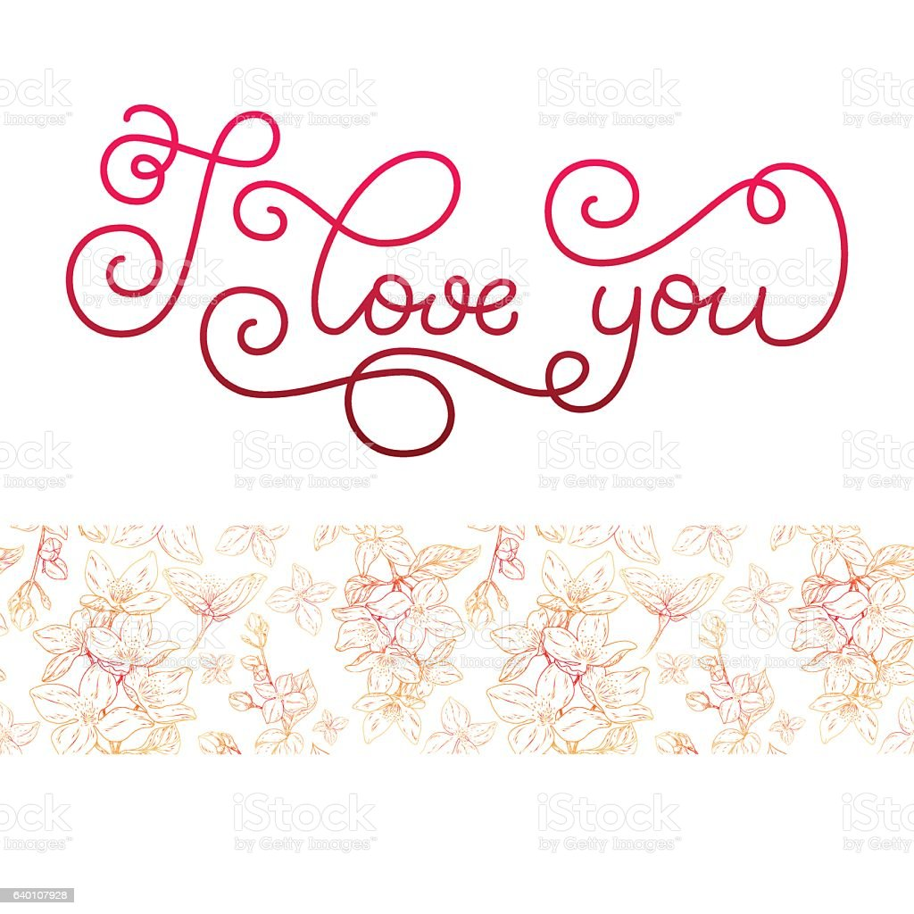 Gift card with hand lettering i love you and bloom gift card with hand lettering i love you and bloom negle Gallery