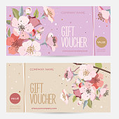 Coupon template. Background for the invitation, shop, beauty salon, spa.