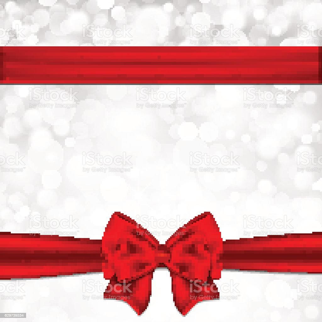 Gift card with red bow.