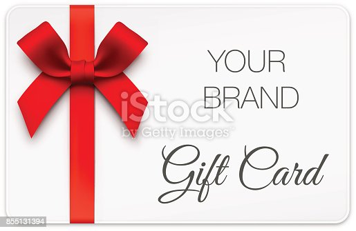 istock Gift Card with Red Bow 855131394