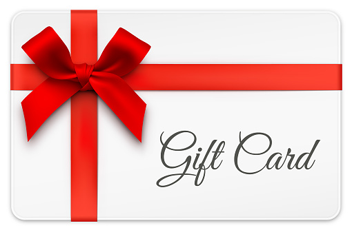 Gift Card With Red Bow Stock Illustration - Download Image Now - iStock