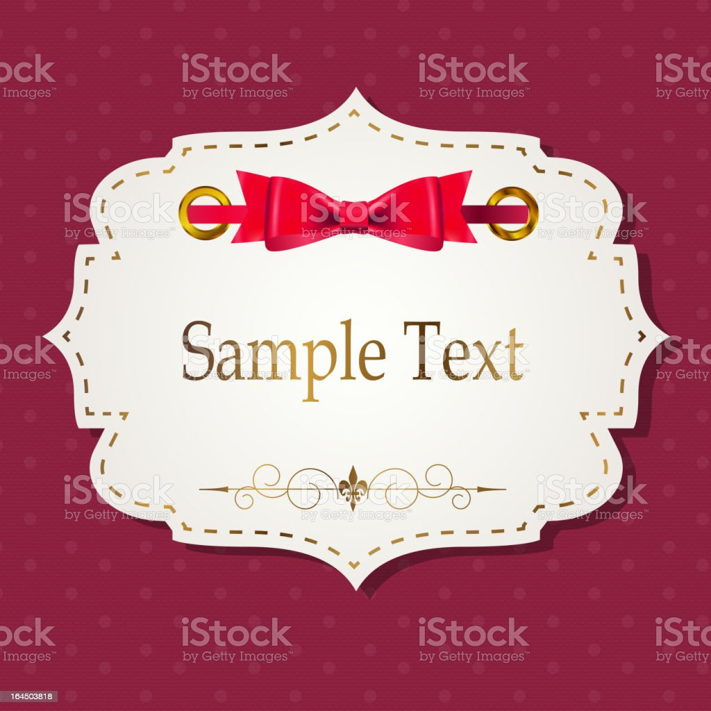 gift card with ribbons, design elements. Vector illustration vector art illustration